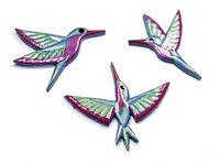 Mosaiksteine - Kolibri/Vogel - Farbe:grün/blau/pink -Grösse:mini- in 3 Varianten