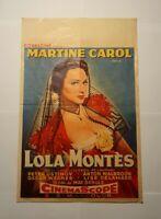 Filmplakat/Filmposter Lola Montès / Lola Montez Belgisch Martine Carol Alt 1955