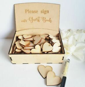 Box for Wooden Love Hearts 3cm or 4cm Wedding Guest Book Drop Box Supplies