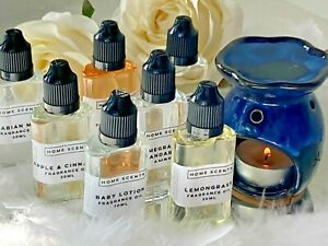 30ML LUXURY DESIGN FRAGRANCE OILS BY HOME SCENTS FOR OIL BURNERS & DIFFUSERS P&P