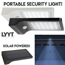 Outdoor LED PIR Motion Security Flood Light 36 LED Solar Power No Wiring