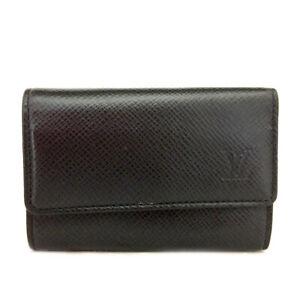 Louis Vuitton Taiga Multicles 6 Ring Key Case Ardoise Leather /E0981