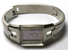 PULSAR Ladies Watch Rectangle Face Pale Pink No Numbers Smooth Bangle Style Band