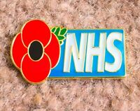 RED POPPY NHS Pin Badge - Nurse - Doctor - Student - National Health Service UK
