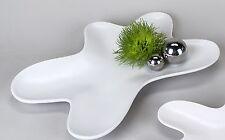 Moderne Deko Schale Obstschale aus Mattglas in weiß Länge 28 cm Breite 20 cm