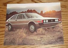 Original 1976 Volkswagen VW Scirocco Specification Sheet Sales Brochure 76