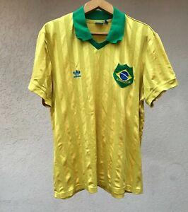 BRAZIL RETRO REPLICA HOME FOOTBALL SOCCER SHIRT JERSEY CAMISETA TRIKOT ADIDAS