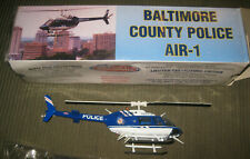 White Rose Collectibles Bell Jet Ranger Helicopter BALTIMORE COUNTY, MD. POLICE