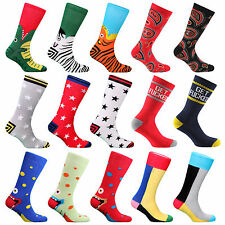 SAMSON® FUNNY SOCKS COTTON NOVELTY SILLY FUNKY COLOUR STREET CREW UNISEX GIFT