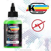 Colore acrilico vernice ad acqua per aerografo PROFESSIONALE VERDE ACIDO 50ML