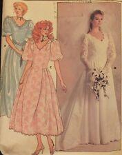 VTG 86 BUTTERICK 3615 MS/MP Shaped Bodice Wedding/Bridal Gown/Dress PATTERN Sz 8