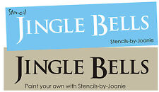 Country Primitive STENCIL Jingle Bells Sleigh Ride Winter Christmas Song Signs