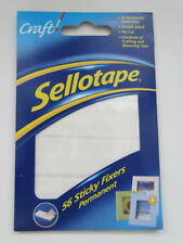 SELLOTAPE PERMANENT DOUBLE SIDED STICKY FIXER PADS PACK OF 56  **BARGAIN**