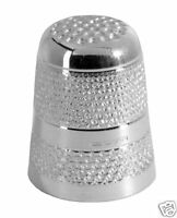 HALLMARKED SILVER THIMBLE.  ENGLISH MADE STERLING SILVER SEWING THIMBLE