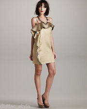 $2840 GORGE 2 die 4 2011 Resort GOLD Silk Blend LANVIN Sleeveless dress size 38