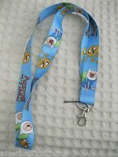 "Thick Blue Adventure Time character 15"" Lanyard/Landyard ID Holder Keychain-New!"