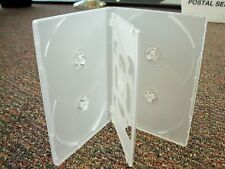 50 14MM CLEAR SLIM 6 SIX DISC DVD CD CASES BOX - DH6C