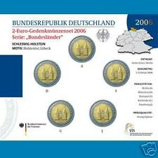 5 monete da 2 euro 2006 Germania  A,D,F,G,J Holstentor