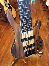 2017 Wolf 7W Satin Walnlut 7 String Active/Passive Bass