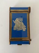 Vintage Us Occupation Zone Wwii Blue Enamel Compact Manicure Set