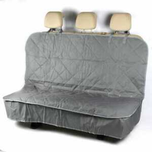 RANGE ROVER VOGUE - PREMIUM Quilted Dog Cat Pet Hammock Rear Seat Cover Grey