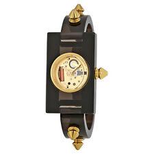 Gucci Champage Dial Ladies Studded Plexiglass Watch YA143509