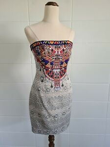 CAMILLA Lost Paradise Strapless Mini Dress sz 8 BNWT *Hemmed Length Short