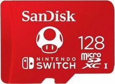 SanDisk 128Go Classe 3 UHS-I microSDXC Carte Mémoire pour Nintendo Switch (SDSQXAO-128G-GNCZN)