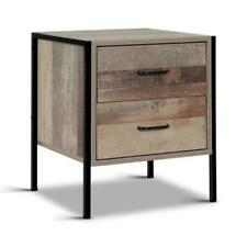 Artiss Bedside Table with Drawers - Black/Oak