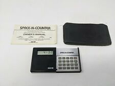 Vintage GCE SPACE-N-COUNTER Working w/ Instructions Case Video Game Handheld LCD
