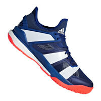 adidas Stabil X Mens Volleyball Shoes Blue Athletic Sneakers 2018 Low Top AC8561