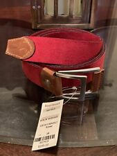 Paul Stuart Gent's Size Medium Belt Leather Suede Made In Italy Red New w Tags