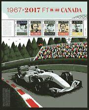 2017 Canada SC# 50th Anniversary Formula 1 Grand Prix - pane of 5 M-NH