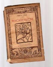 macaronicae - merlin cocai -