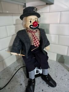 Vintage porcelain clown doll Size 22 inch