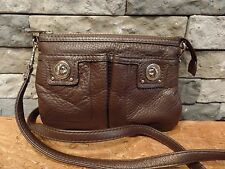 Wilson's Leather Pelle Studio Brown Cross Body Leather Purse Super Nice!