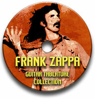 FRANK ZAPPA ROCK JAZZ GUITAR TAB COLLECTION TABLATURE SONG BOOK SOFTWARE CD
