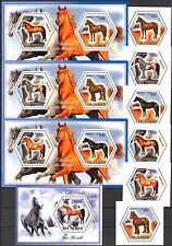 Chad 2014 Horses set of 6 + 4 S/S MNH** Privat !