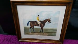C.Hunt Hand Colored Antique Engraving Touchstone Painting by I.F.Herring