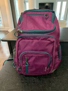 EUC Embark Purple and Gray 5 Pocket Backpack Bag, Large Pack