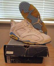 RARE 2002 Air Jordan Retro VI Low University Blue 6 White Men's Shoes size 11.5