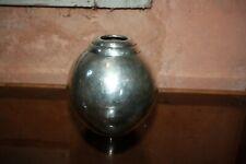 Beau vase en métal argenté Christofle design Luc Lanel