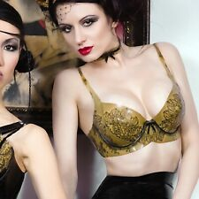 Atsuko Kudo Latex Lady P Transparent Lace Printed Bra Fetish Burlesque S  $325