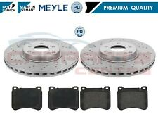 FOR MERCEDES C CLASS W203 FRONT DRILLED BRAKE DISCS 330mm PADS PAD MEYLE GERMANY