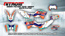 KTM Graphics Kit Decals Design Stickers EXC EXC-F 125 250 300 450 530 2008-2011