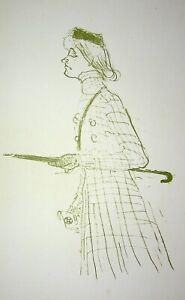 TOULOUSE LAUTREC :  Promenade en automne - LITHOGRAPHIE signée, 1950