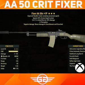 Anti-Armor 50 crit  Fixer - AA 50 +1p Fixer - AA/50/+1p Fallout76 [XBOX]