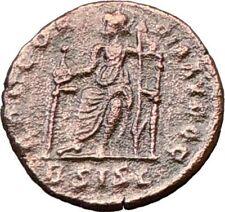 VALENTINIAN I 364AD Ancient Genuine Roman Coin ROMA w Victory Nike RARE  i22562