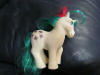 1984 My Little Pony Vintage G1 Gusty Unicorn Glitter Maple Leaves