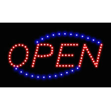 Luminous Flashing Led Neon Light Motion Running Business Open Sign On Off Switch